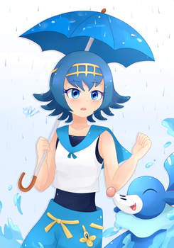 It's Raining by Pika-chanY