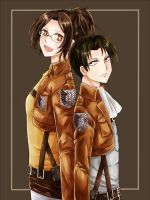 Levi and Hanji by bwt517