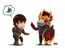 How to train your Dragon.. Knight by cedalcalde