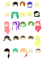 Lil' Vocaloid Heads by iKyuKyu