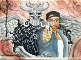 The Angel Of Death and Tupac by LunaCreationsX