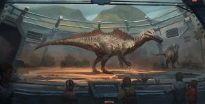 Mesozoic Land : Ichthyovenator by Raph04art