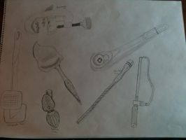 Art Assignment:Tool Drawings with Different Lines by dojopriest