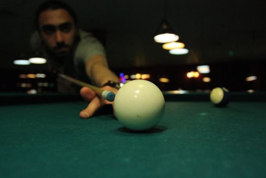 me playing pool by xcho20