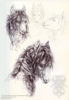 Ballpoint studies: Tjora by pallanoph