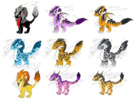 Big Cat Inspired Dragon Designs by DragonsAndBeasties