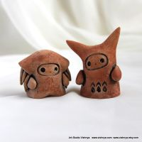 2 OOAK Small kindly cute Spirits by vavaleff