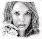Pencil portrait of Natalie Portman by chaseroflight