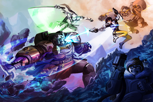 Agents of Overwatch vs Spacemarine Terminator! by neon89