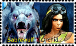 Sabrewulf X Orchid Stamp by WOLFBLADE111