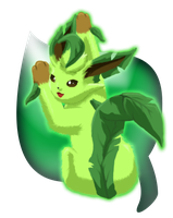 Leafeon in the Spring Breeze by lunaki