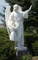 Mount Olivet Cemetery Guardian Angel 239 by Falln-Stock