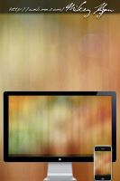 Wood Bokeh Wallpaper by MikeyG8