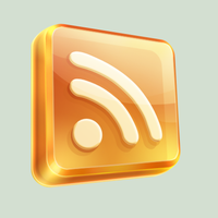 3D Glassy RSS Icon by Seiorai