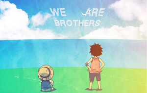 Luffy and Ace - We Are Brothers by NMHps3