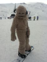 Wampa goes snowboarding by MonstrositiesNZ