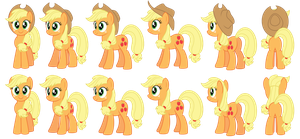 Applejack vector sprites by AleximusPrime