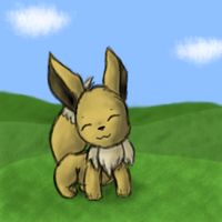 A Happy Eevee by Marriland