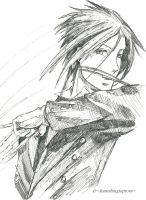 Sebastian Michaelis ink drawing by Clairvoyantartistry