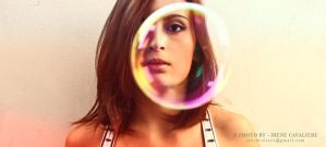 self portrait with bubble by IreneArt