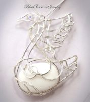 White Swan by blackcurrantjewelry