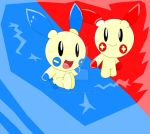 plusle and minun by jimmaybubbles2
