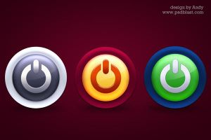 Glossy colorful power icons by psdblast