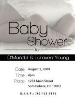 Invitation - Baby Shower by cgitech