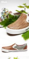 shoes, out of wood by Bobsmade