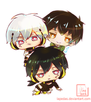 Commission - Kagepro Trio Triangle by lapedas