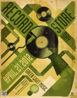 Green Light Music RECORD STORE DAY Poster by PaulSizer