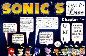 Sonic's quest for love~ chapter 1 cover by Slasher-The-Wolfen