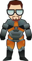 Gordon Freeman by LoulouVZ