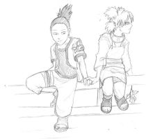 Shikamaru and Temari by kyraal