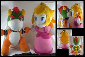 Bowser - Peach kissy plushies by eitanya