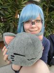 me as miku and with my new cat by TheSushiNeko