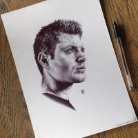 Jensen Ackles drawing by johanne-art