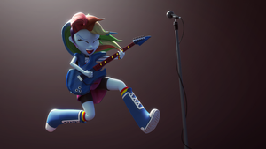 Rainbow Dash with Guitar by CreatorOfPony