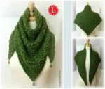 Loom Knit Triangle Shawl by LoomaHat