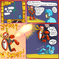 Protoman comic 1 by Ropnolc