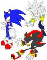 P: Sonic Silver and Shadow by fansonic