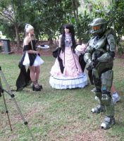 Master Chief, Ciel, Freya by darkbhudda