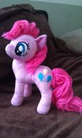Yarn Hair Pinkie Plush by sockfuzzy