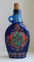 Celtic Fish Bottle by bellekaX