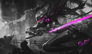 Monochromatic Splash Art: PROJECT: Fiora by AODRG