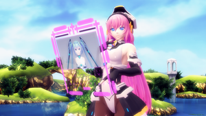 MMD Sign frame test by Xenosnake
