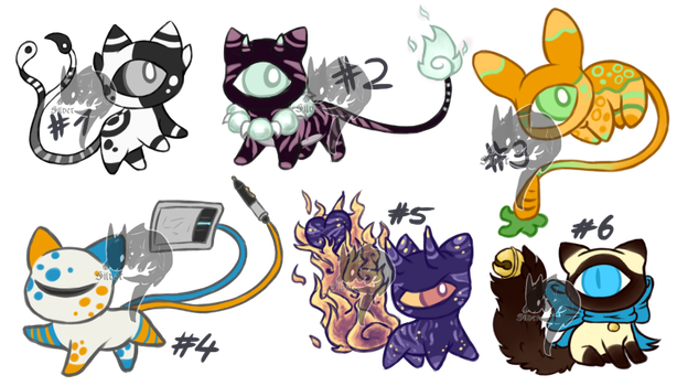 TailThings adoptables [3/6] by ll-Silver-ll