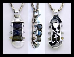 Ternion Sapphire Pendant by manwithashadow