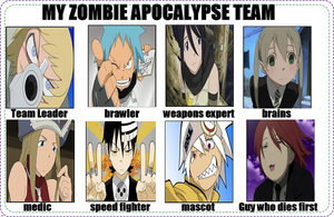 Soul Eater Zombie Apocalypse Team by Puglover24
