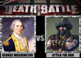 Death Battle: George Washington Vs. Attila The Hun by MrAngryDog